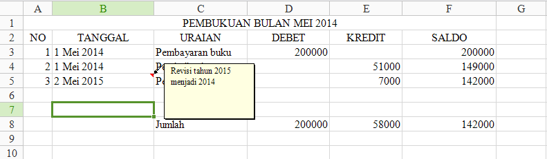 pembukuan excel - post - it - note