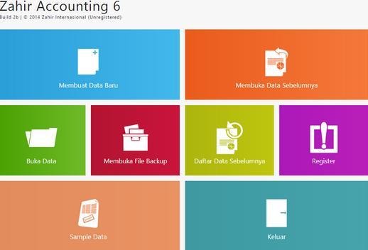 aplikasi akuntansi - interface