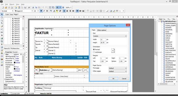 aplikasi akuntansi - custom report