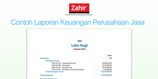Contoh Laporan Keuangan Perusahaan Jasa