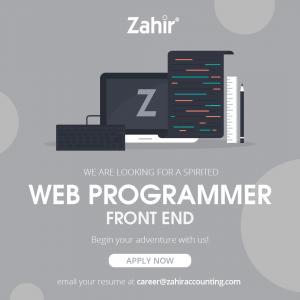 Lowongan Kerja Web Programmer FrontEnd