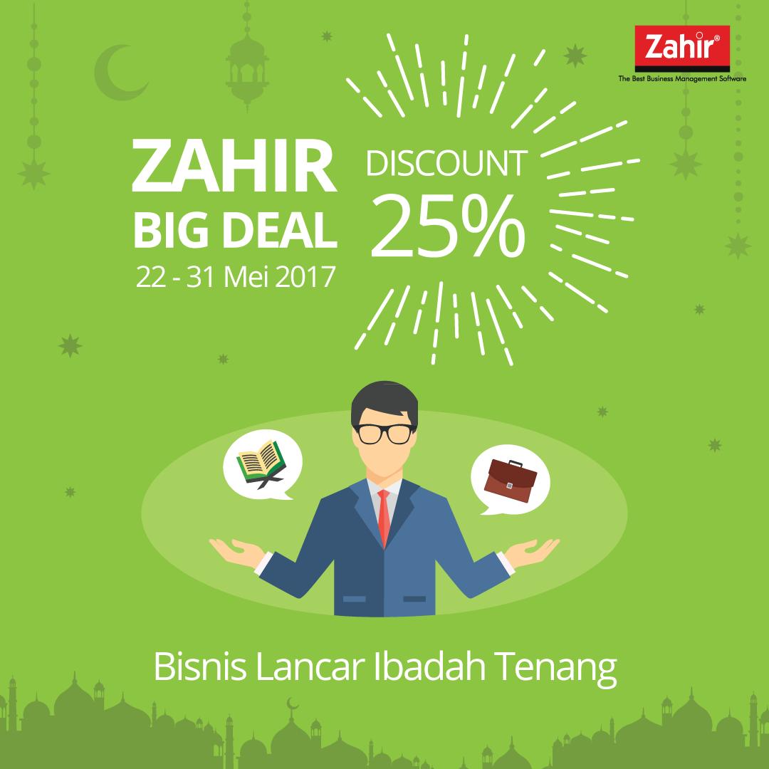 Zahir Big Deal Discount 25% – Bisnis Lancar Ibadah Tenang