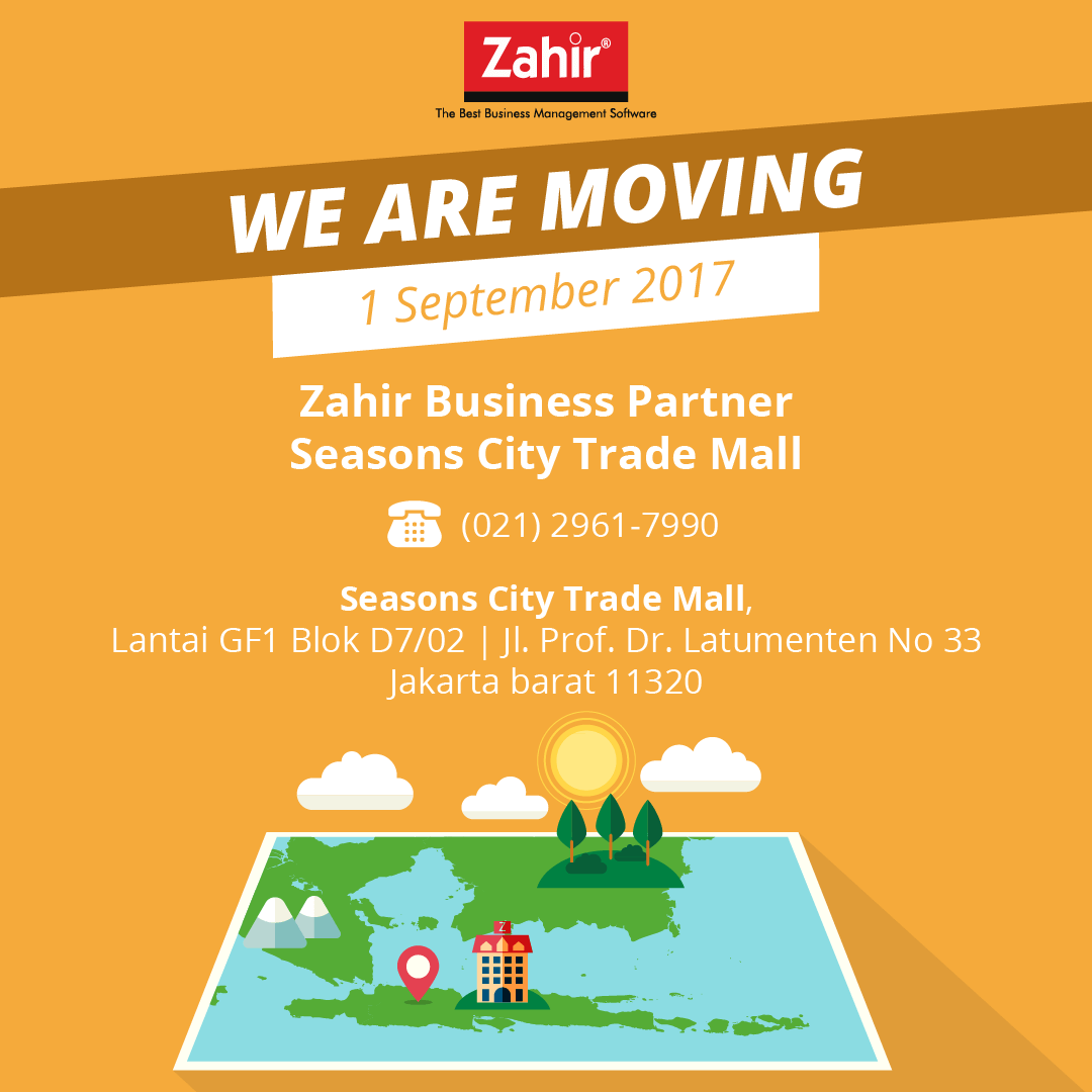 Alamat Baru Zahir Business Partner Season City