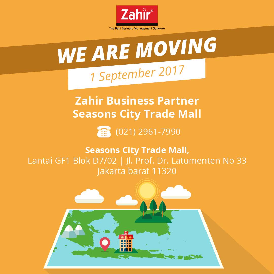 Alamat Baru Zahir Business Partner Season City