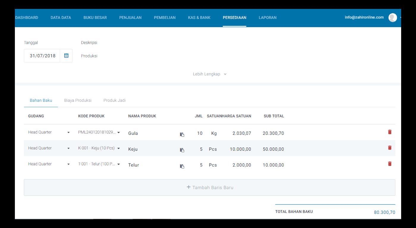 Software Akuntansi Online Zahir Small Business Accounting Kapasitas dan Fasilitas dapat di-upgrade!